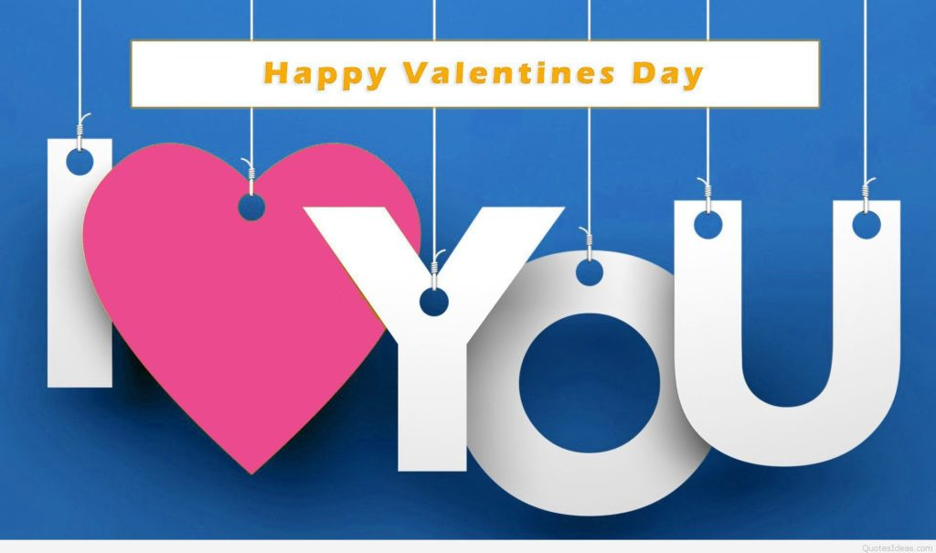 Happy Valentine S Day 2017 I Love You Hanging Text Picture