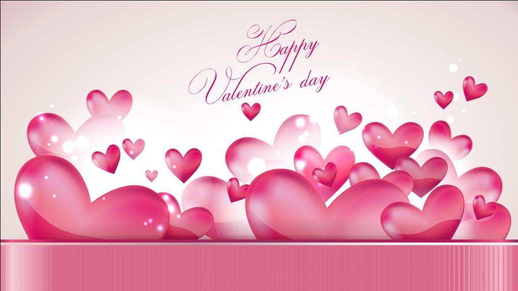 Happy Valentine S Day 2017 Pink Hearts Wallpaper