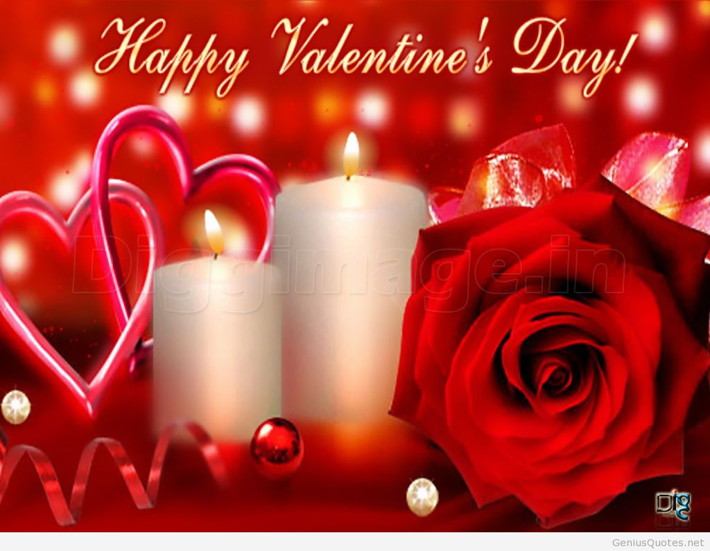 happy valentine's day candles and rose flower wallpaper