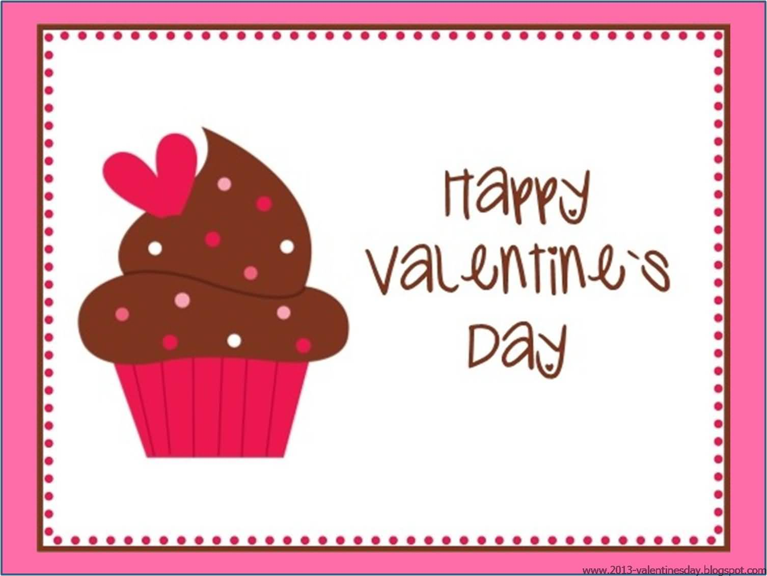 happy valentine�s day cupcake clipart
