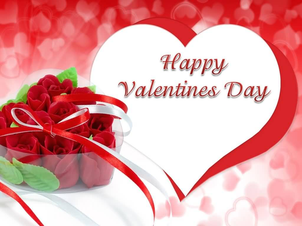 70 most beautiful happy valentine s day greeting pictures - Valentine s day flower wallpaper ...