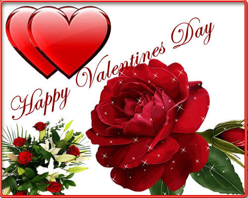 happy valentine's day flowers and hearts, Ideas