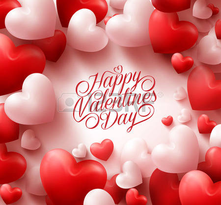 happy valentines day heart balloons card - Happy Valentines Day Photos