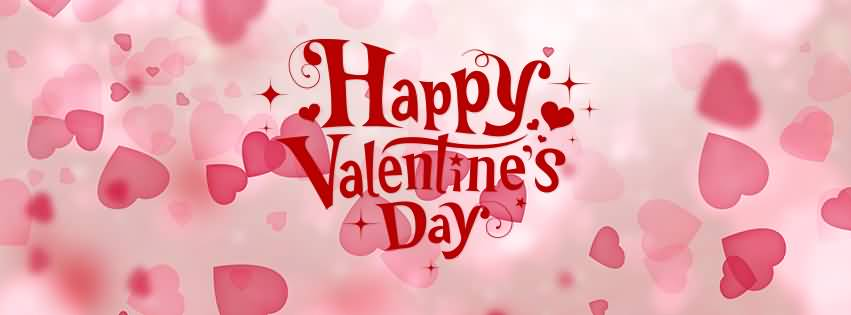Happy Valentine S Day Hearts In Background Facebook Cover Photo
