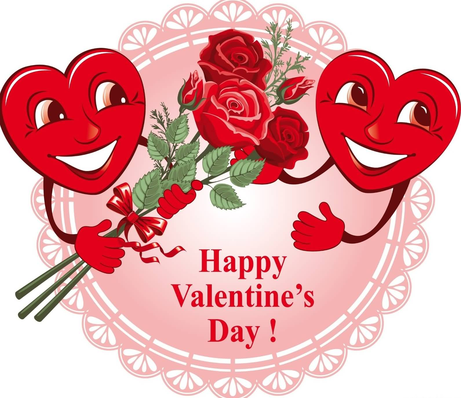 Happy Valentine S Day Hearts With Flowers
