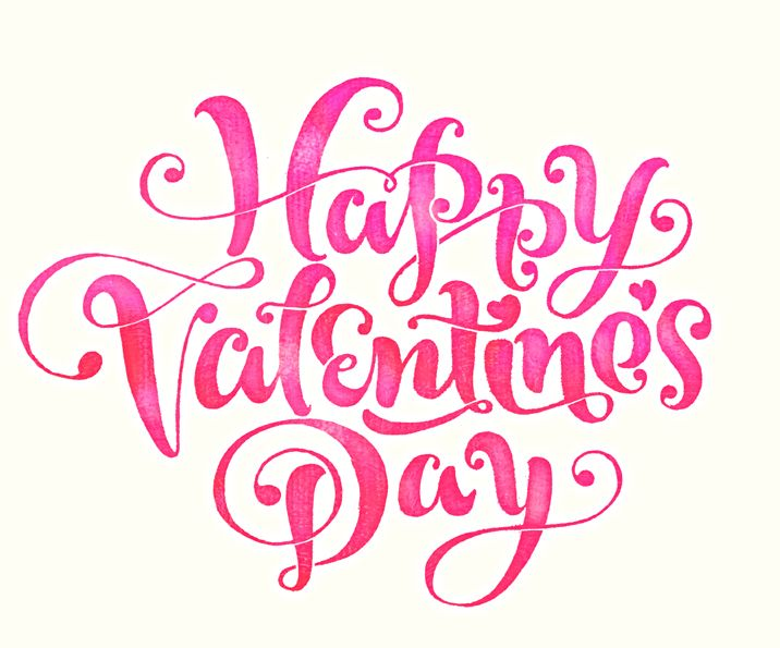 happy valentine u2019s day pink text lettering wishes