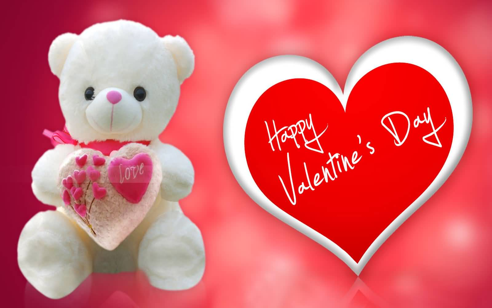 50 most beautiful valentines day greeting card happy valentines day teddy bear greeting card kristyandbryce Choice Image