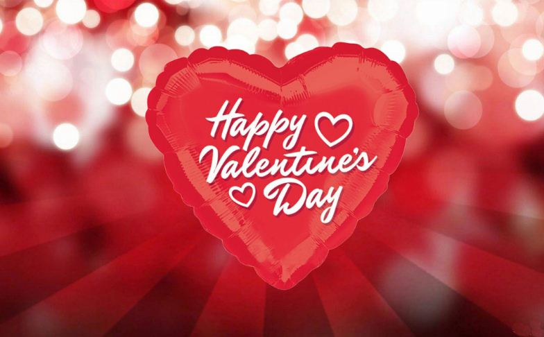 Happy Valentine\'s Day Text On Heart Wallpaper