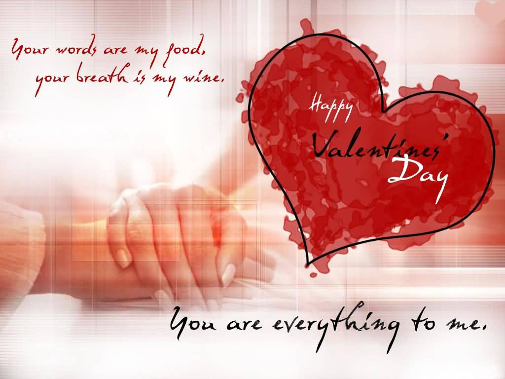 Happy Valentineu0027s Day You Are Everything To Me Greeting Card