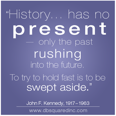 History Has No Present Only The Past Rushing Into The Future To