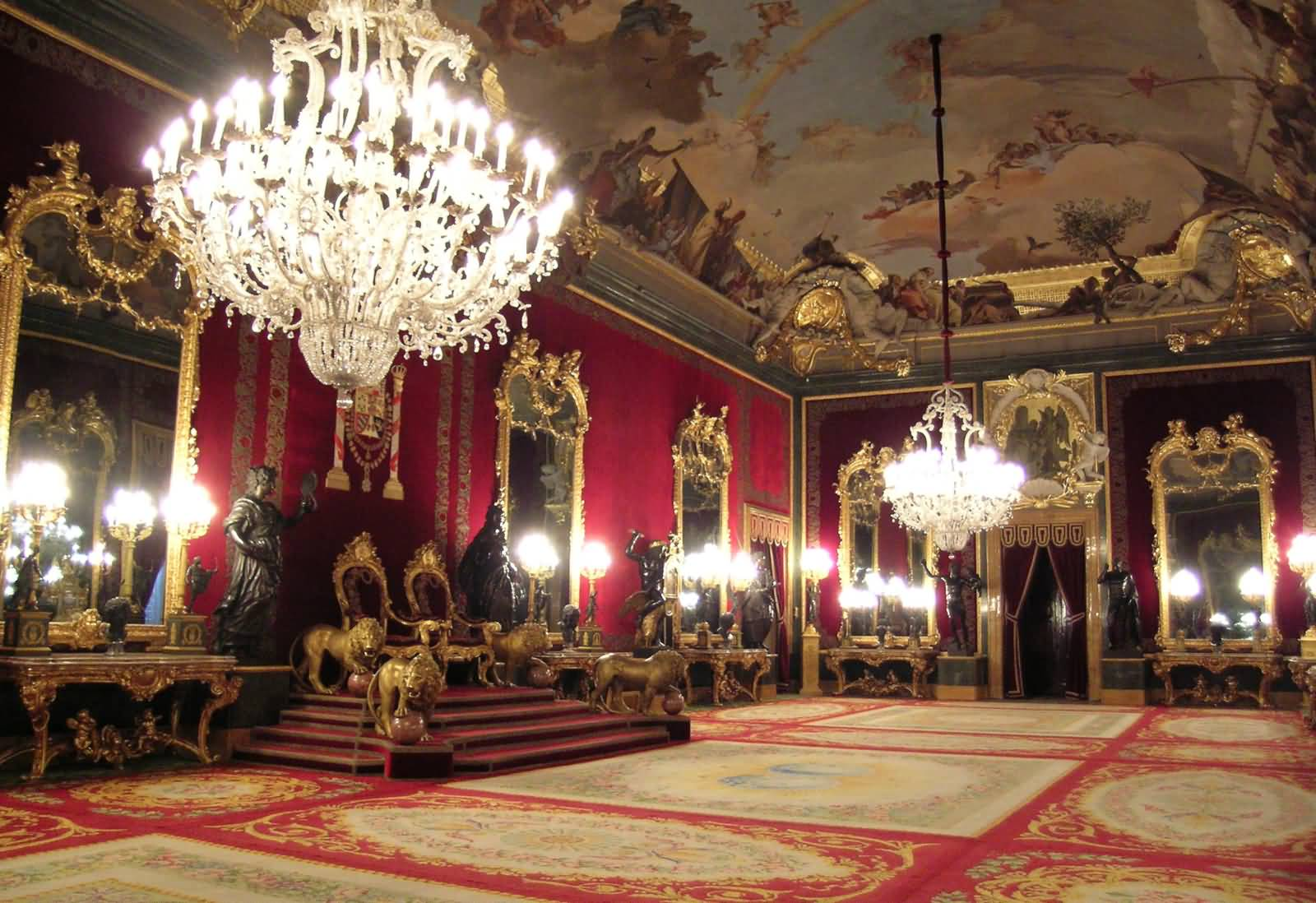 Inside Royal Palace Of Madrid