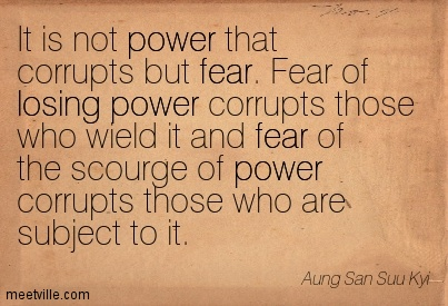 fear of losing power phobia