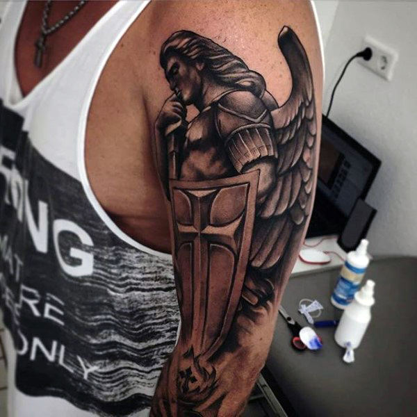 27 Guardian Angel Tattoos Collection