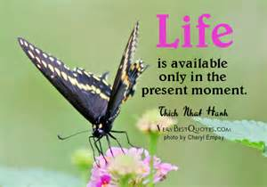 Life is available only in the present moment. Thich Nhat Hanh