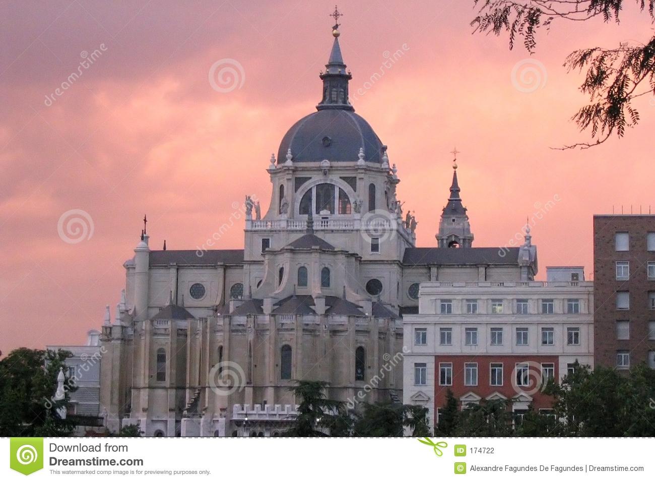 Madrid Royal Palace During Sunset