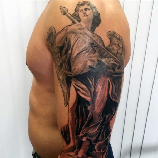 27 guardian angel tattoos collection for Angel half sleeve tattoo