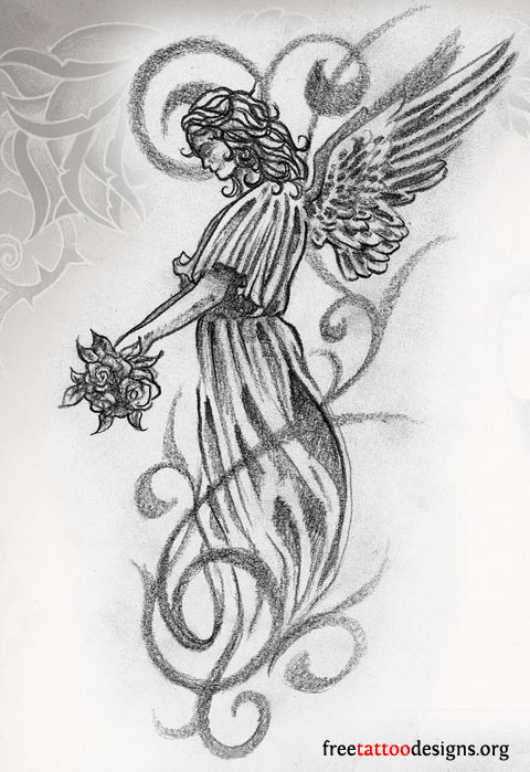 45+ Angel Tattoos Designs And Samples
