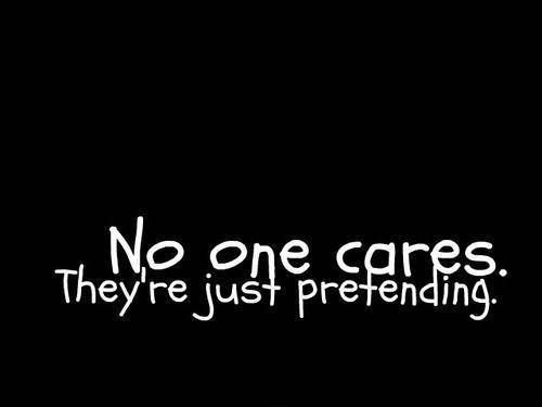 No one cares, they're just pretending