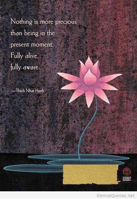 Nothing is more precious than being in the present moment. Fully alive, fully aware. Thich Nhat Hanh