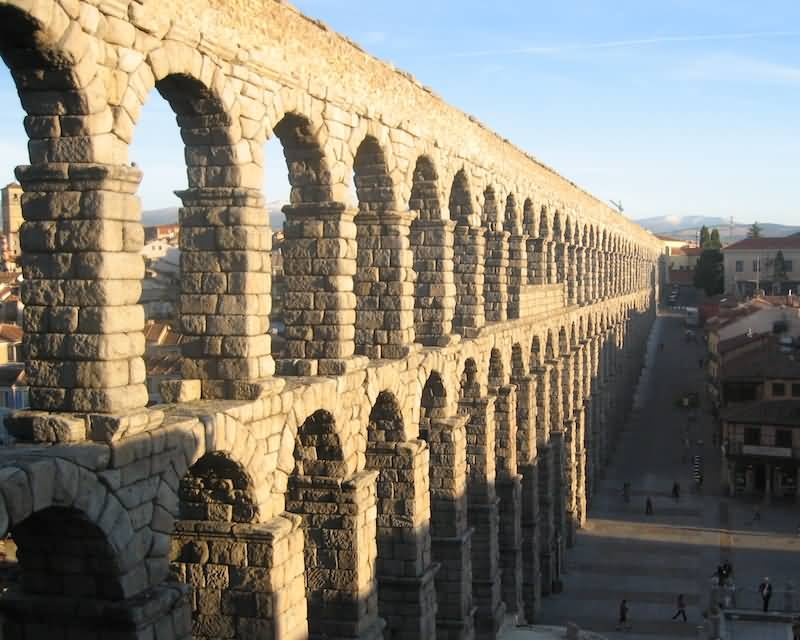 Picture Of Aqueduct Of Segovia In Spain