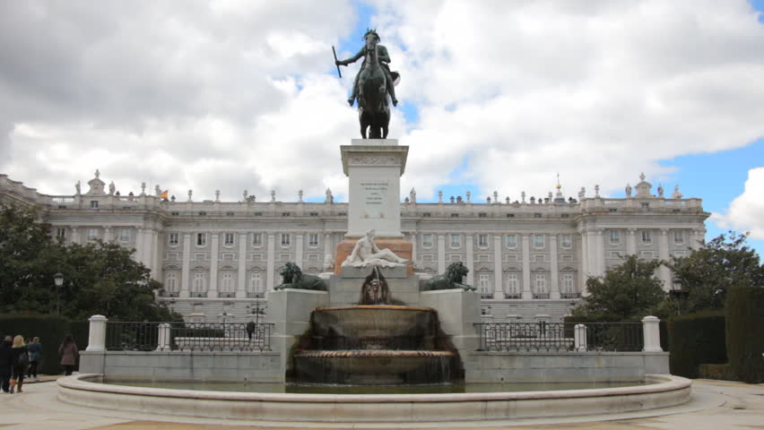 Plaza de Oriente With Monument And Royal Palace Of Madrid