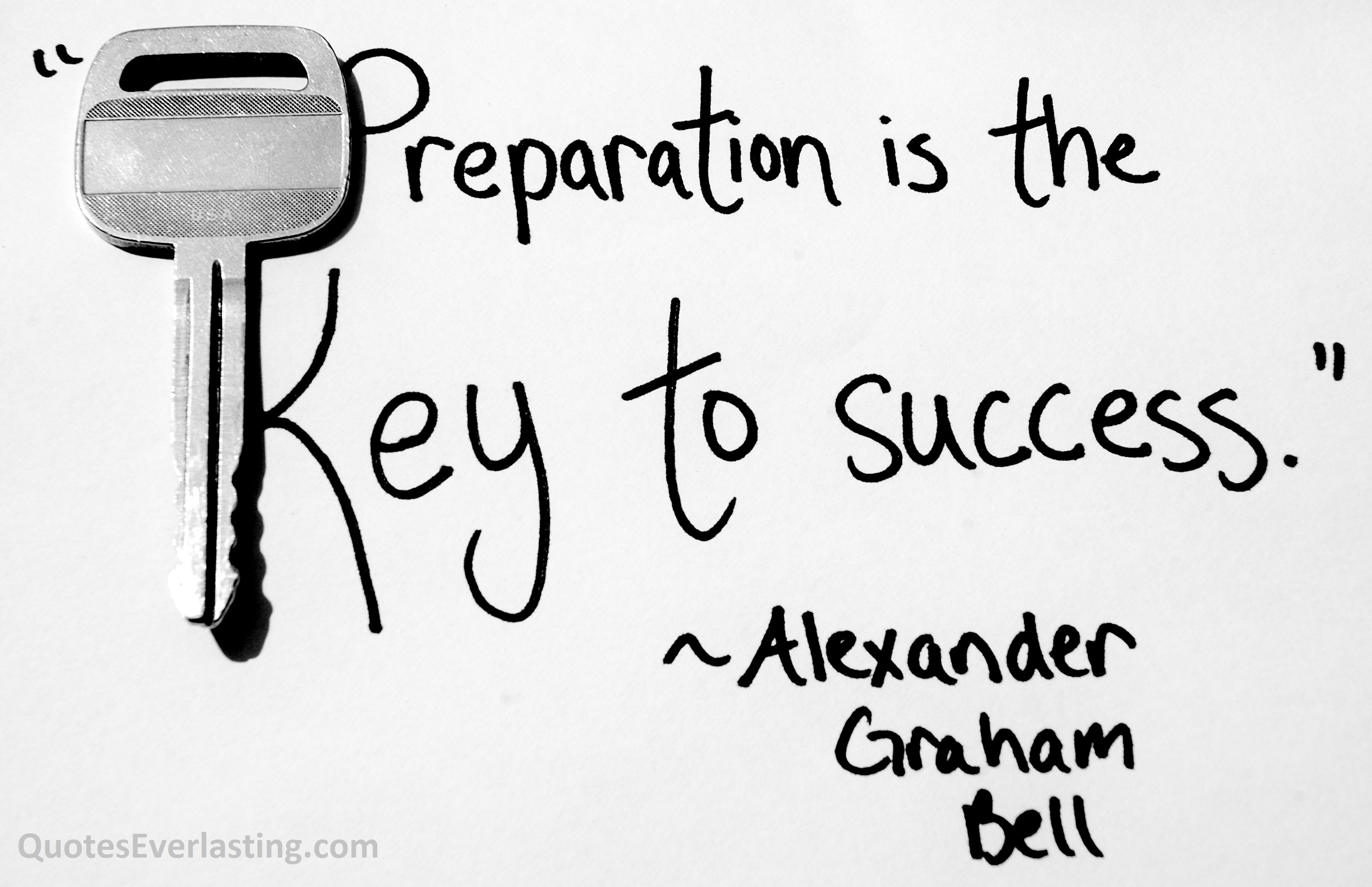 62 beautiful preparation quotes and sayings preparation is the key to success alexander graham bell
