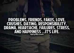 Problems Friends Fakes Love Crushes Dating Responsibility Drama Heartache Failure Stress And Happiness Its Life
