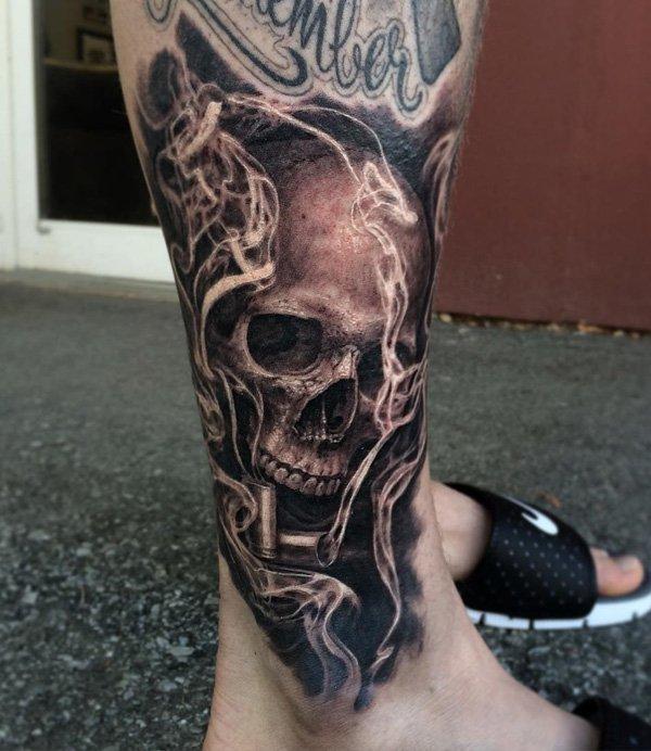 58 unique skull tattoos ideas and designs. Black Bedroom Furniture Sets. Home Design Ideas