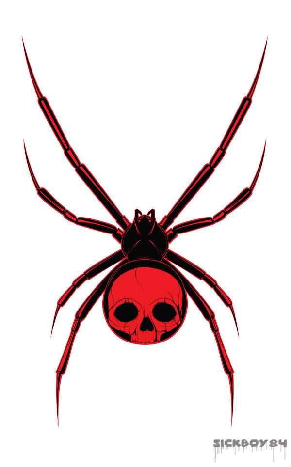 red skull spider tattoo design. Black Bedroom Furniture Sets. Home Design Ideas