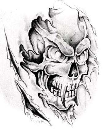 ripped skin evil skull tattoo design rh askideas com dark evil skull tattoo designs free evil skull tattoo designs