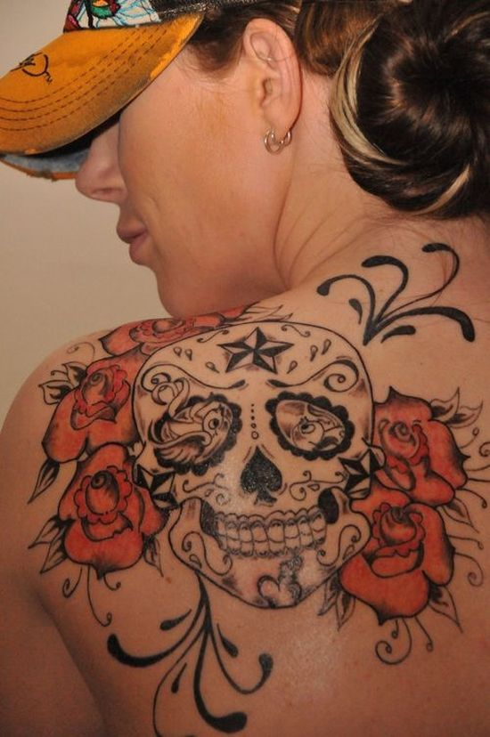 14+ Roses And Skull Tattoos Collection