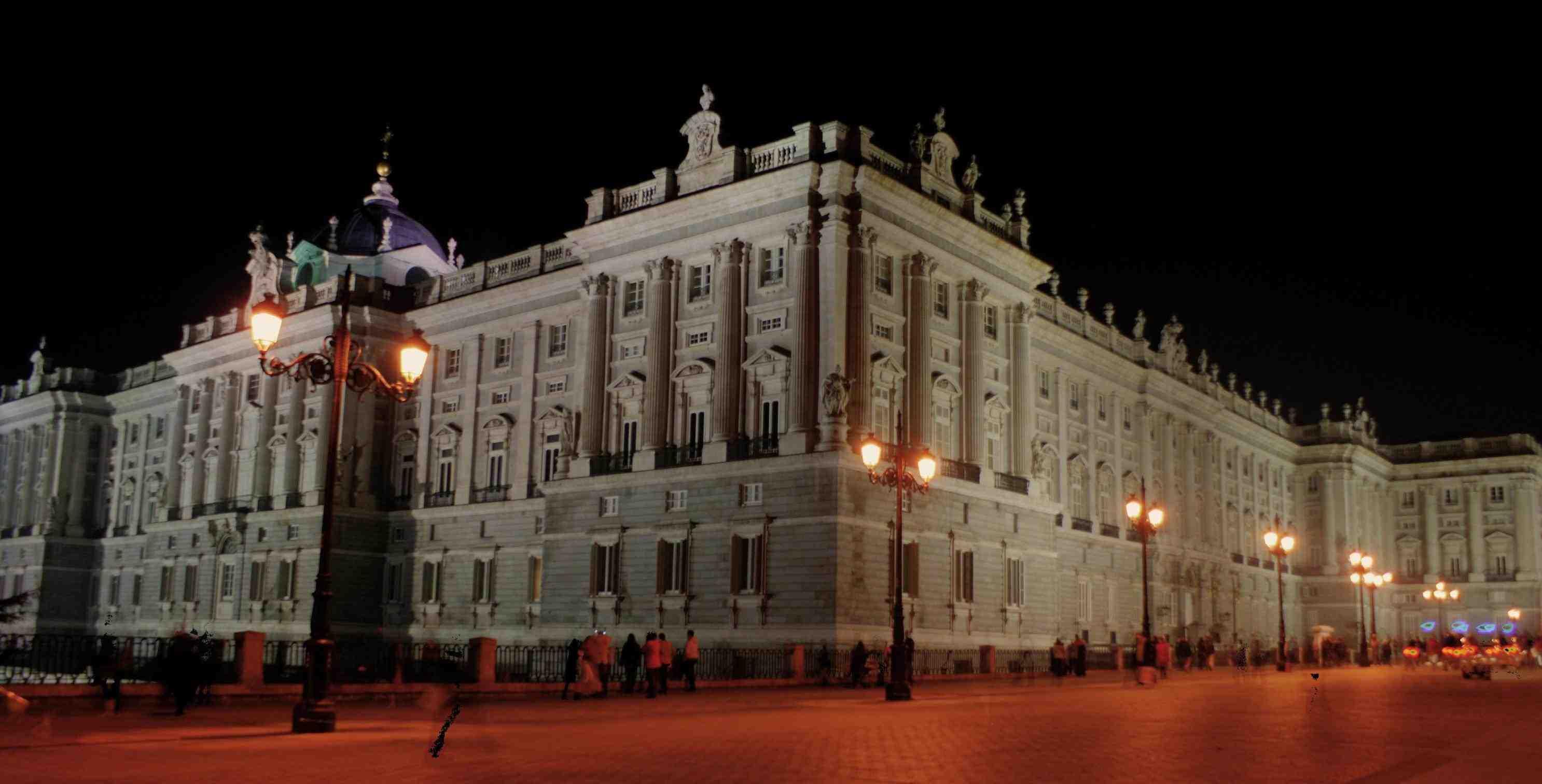 Royal Palace Of Madrid At Night