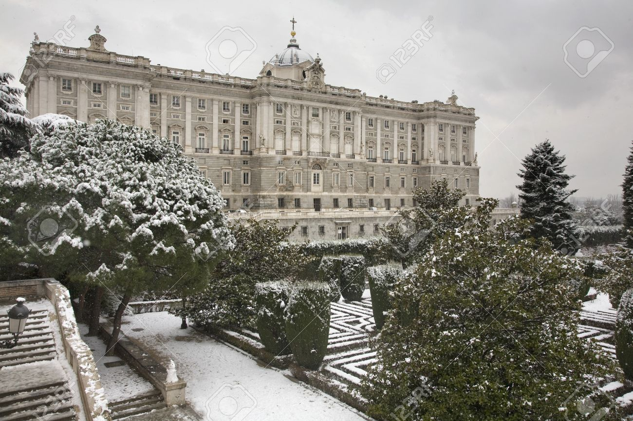 Royal Palace Of Madrid During Winter
