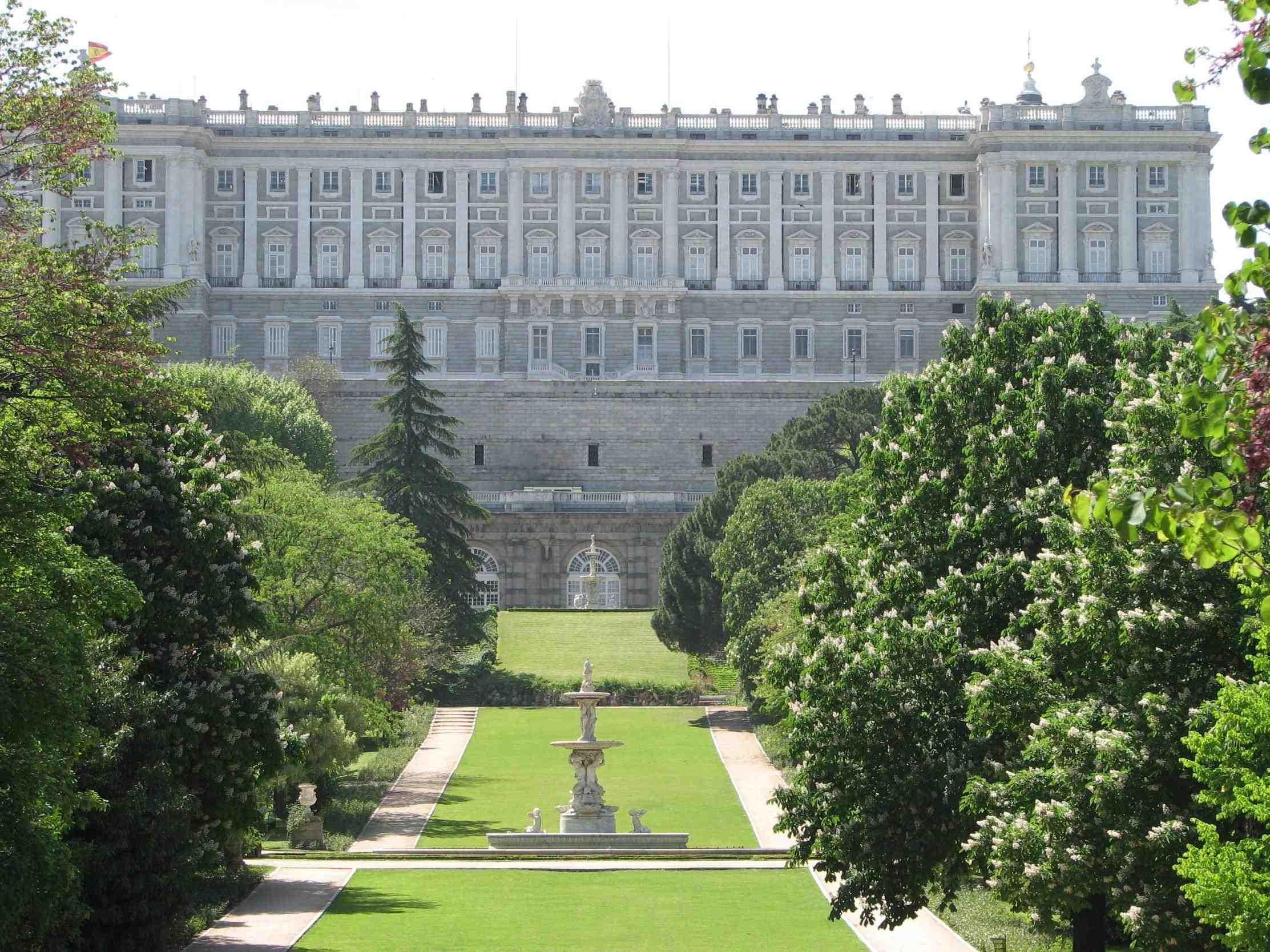 Royal Palace Of Madrid Gardens
