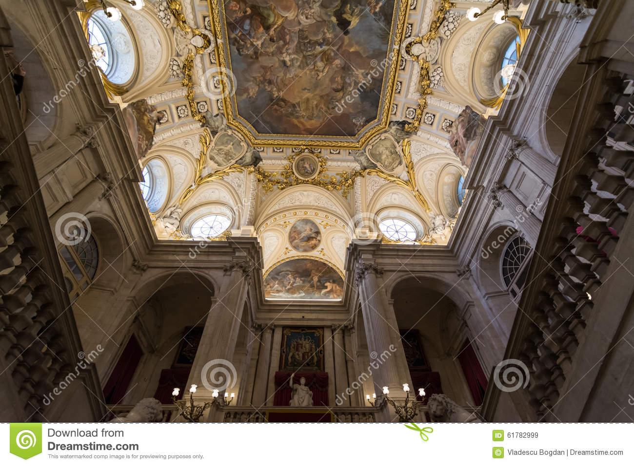 Royal Palace Of Madrid Interior View