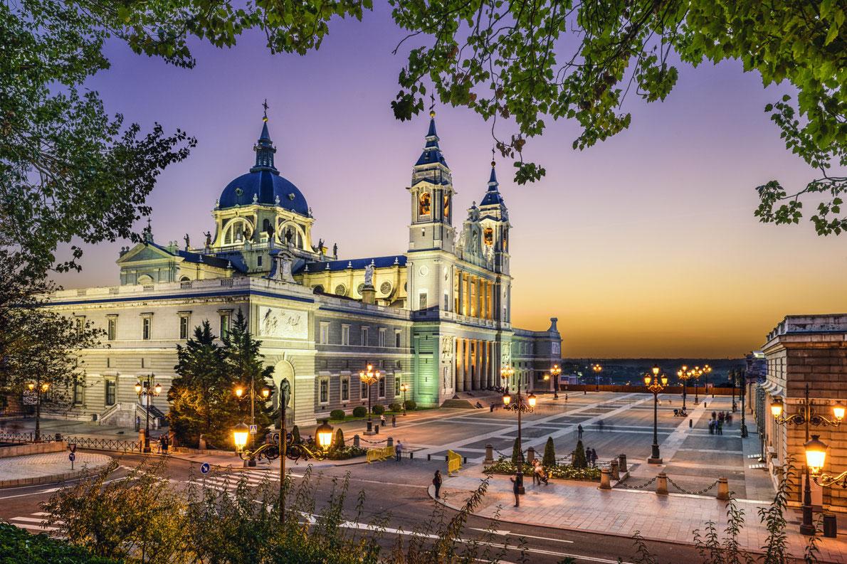 Royal Palace Of Madrid Looks Amazing At Dusk