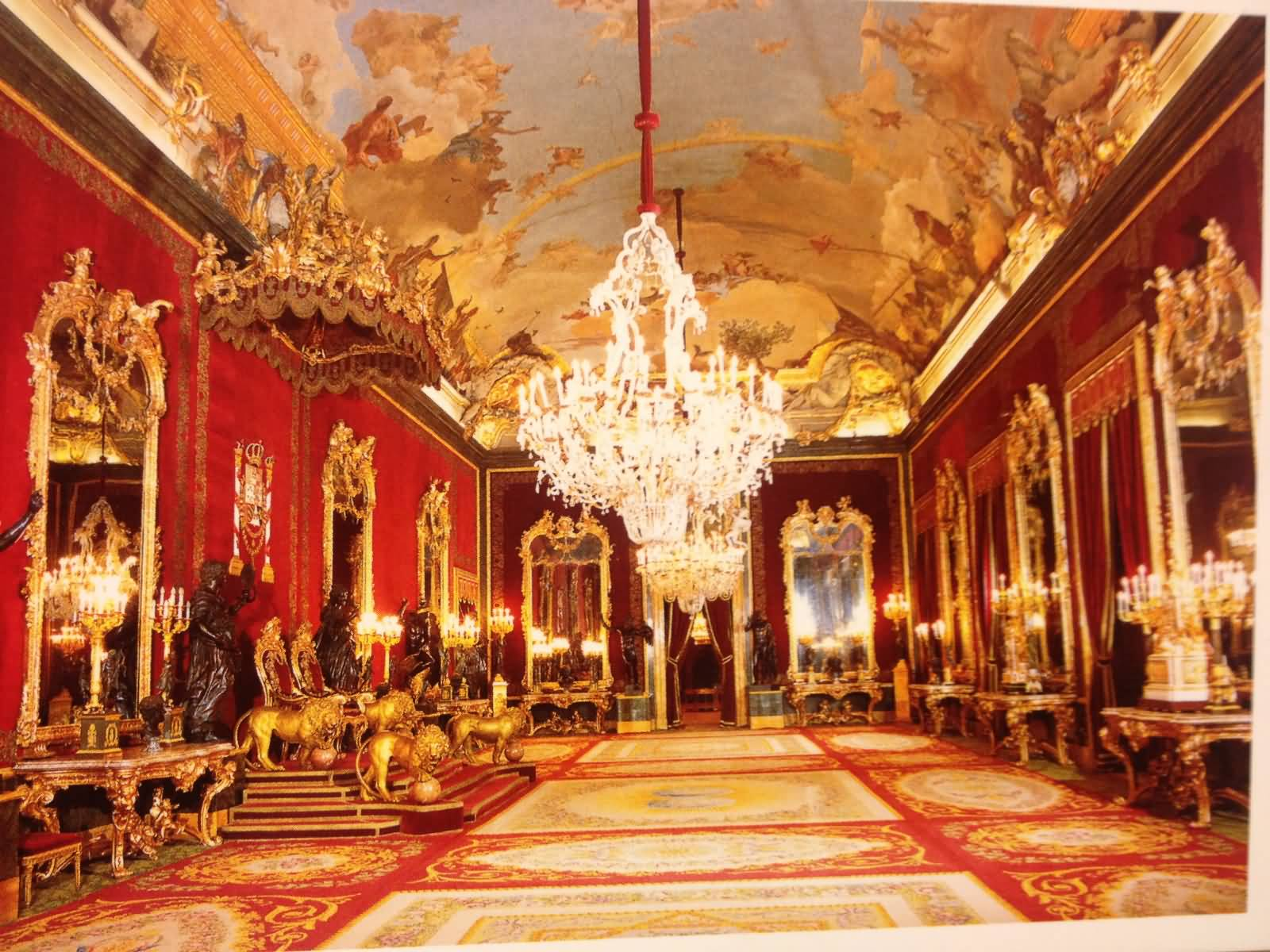 Royal Palace Of Madrid Throne Room Inside View