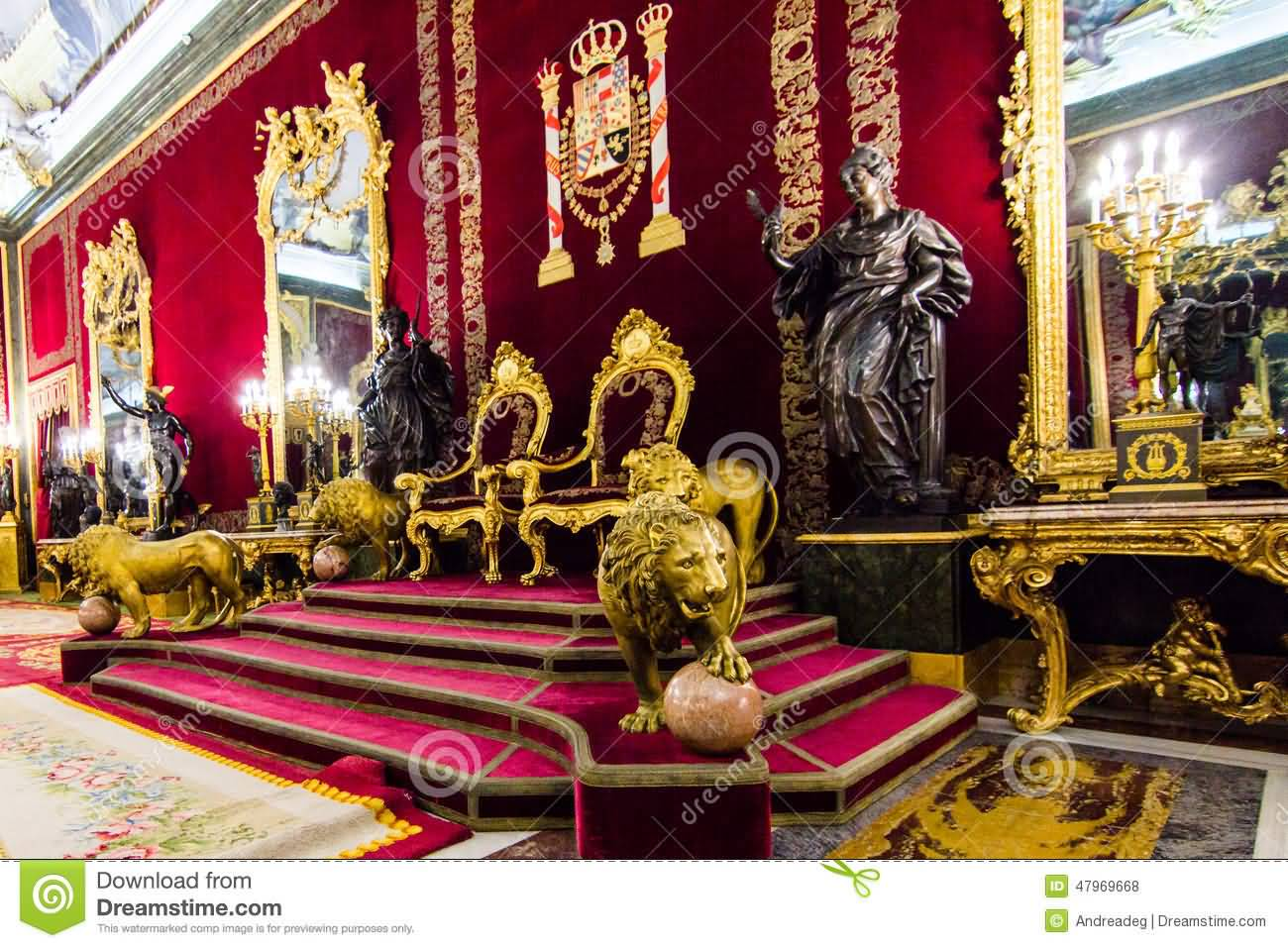 Royal Throne Inside The Royal Palace Of Madrid