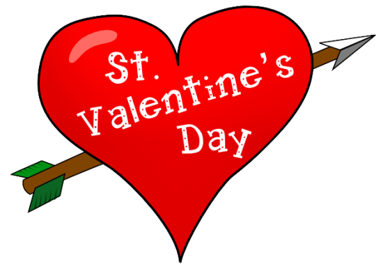 saint valentines day heart with arrow - San Valentine Day