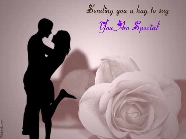 Sending You A Hug To Say You Are Special Hug Day Greeting Card