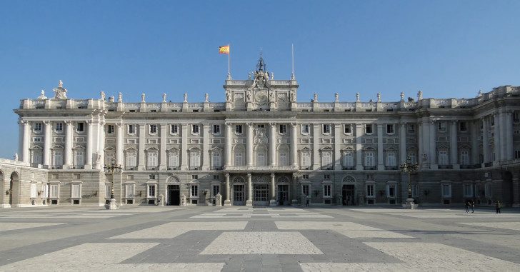 Square Of Royal Palace Of Madrid