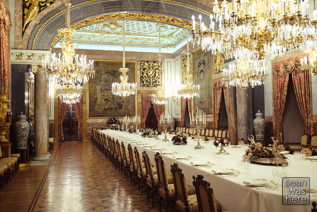 The Dinning Hall Inside The Royal Palace Of Madrid