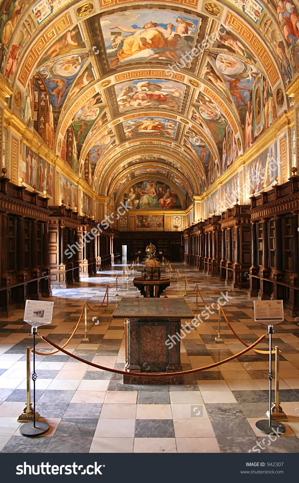 The Library Inside The Royal Palace Of Madrid