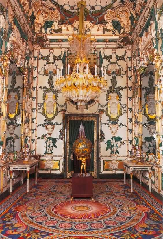 The Porcelain Room Inside The Royal Palace Of Madrid
