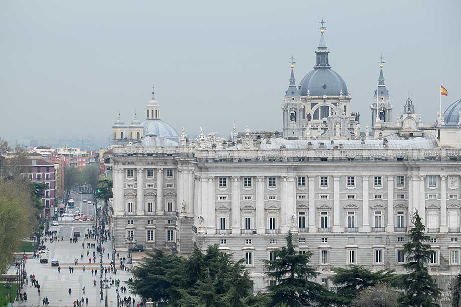 The Royal Palace Of Madrid Aerial Shot