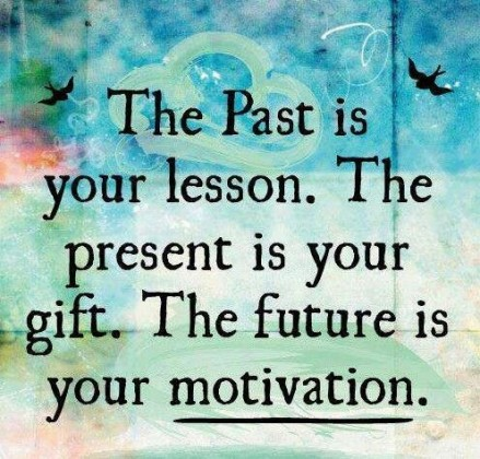 The past is your lesson. The present is your gift. The future is your motivation