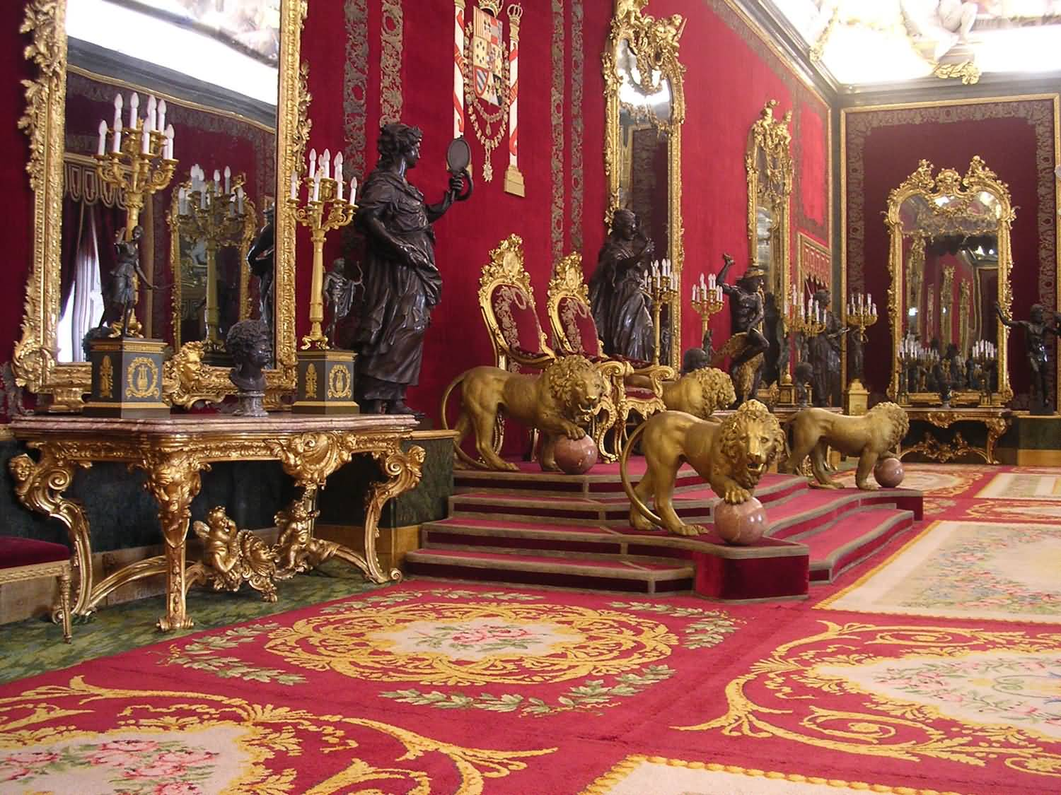 Throne Room Inside The Royal Palace Of Madrid