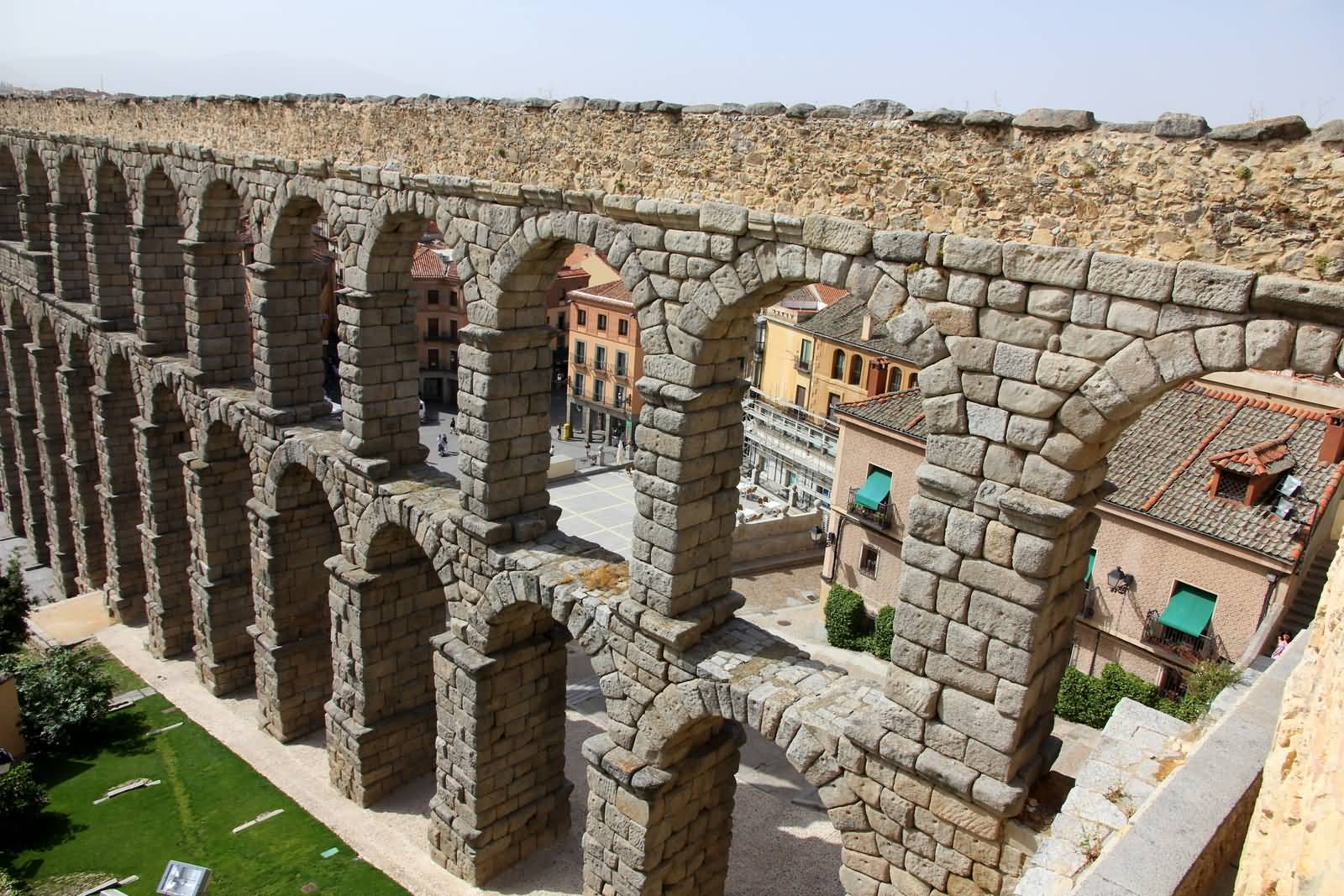 Top View Of The Aqueduct Of Segovia