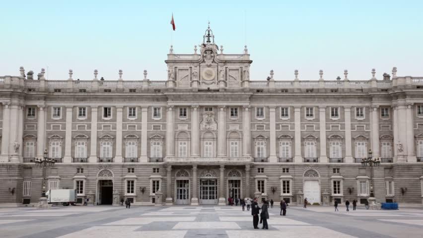 Tourist Walk Near Royal Palace Of Madrid