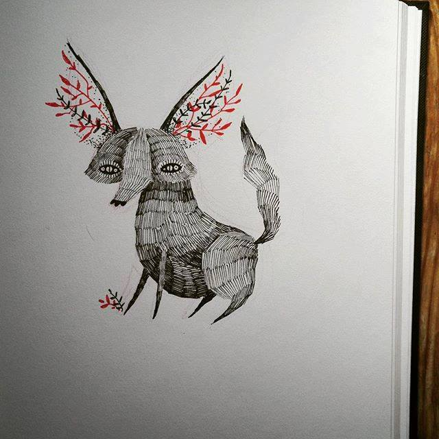 Unique Fox Tattoo Design